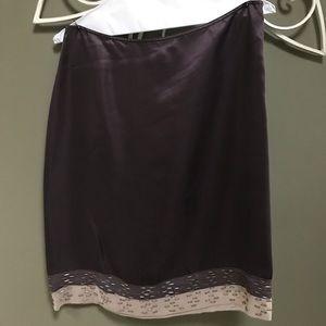 CALVIN KLEIN 100% Silk skirt